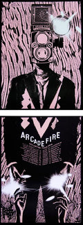 Arcade Fire - 2014 Rob Jones poster print Reflektor Tour PINK Silent Giants