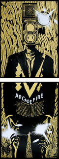 Arcade Fire - 2014 Rob Jones poster print Reflektor Tour SUNSHINE Silent Giants