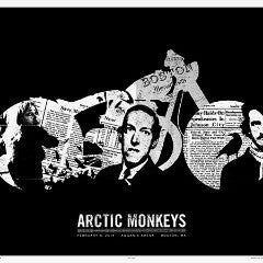 Arctic Monkeys - 2014 Third Alert Designs poster Boston