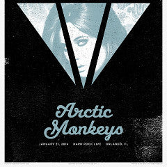Arctic Monkeys - 2014 Third Alert Designs poster Orlando