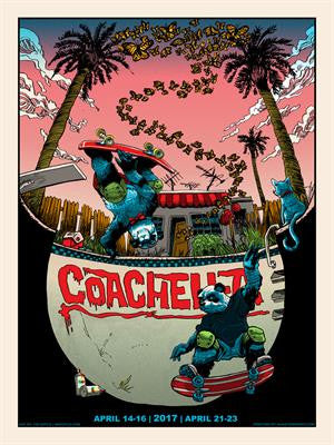 Coachella - 2017 Tim Doyle poster AP signed Empire Polo Indio, CA
