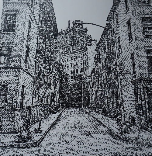 West Village - 2016 David Welker poster print regular version Lucid Dreamscapes
