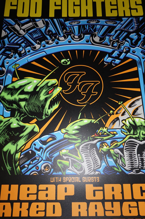 Foo Fighters - 2015 TAZ poster print Chicago, IL Wrigley Field