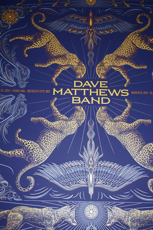 Dave Matthews Band - 2015 Todd Slater DMB poster print Mexico City