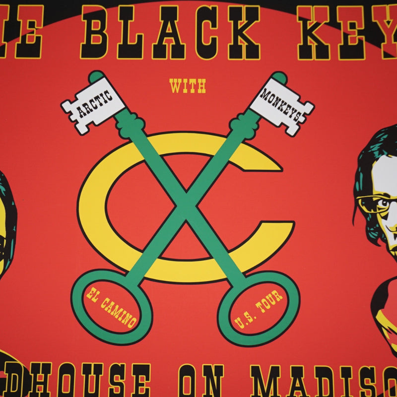 The Black Keys - 2012 Dancin poster print United Center Chicago Blackhawks