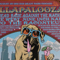 Lollapalooza - 2008 Justin Hampton Burgundy/Red Poster Chicago, IL RARE