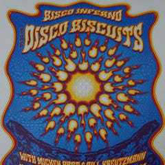 Bisco Inferno - 2015 Dave Hunter poster Disco Biscuits Denver, CO Red Rocks
