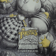 Primus - 2015 PEZ Chicago Theatre screen printed poster MONO VARIANT