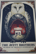 The Avett Brothers - 2014 Zeb Love poster Raleigh, NC NYE PNC Arena