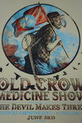 Old Crow Medicine Show - 2015 Zeb Love screen print poster Red Rocks
