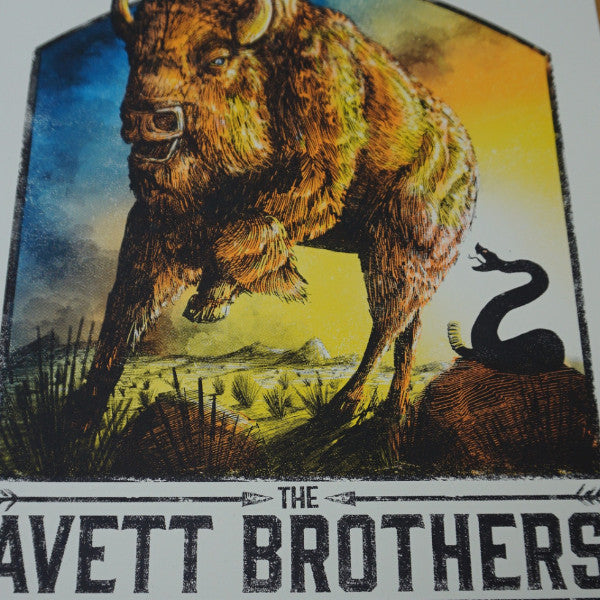The Avett Brothers - 2015 Zeb Love screen printed poster Kansas City, MO