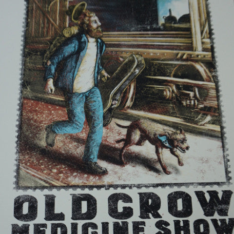 Old Crow Medicine Show - 2015 Zeb Love screen print poster South Carolina