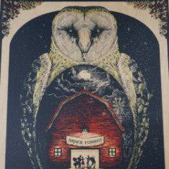 "The Avett Brothers - 2014 Zeb Love WOOD ""poster"" Raleigh, NC NYE PNC Arena"