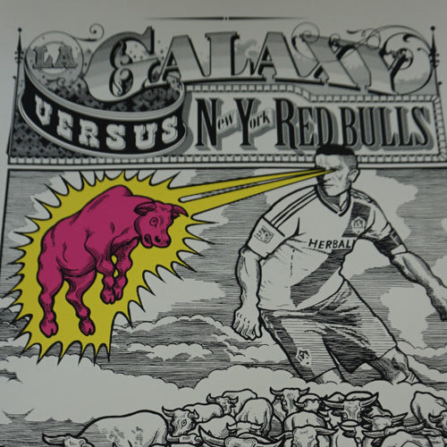 LA Galaxy vs. New York Red Bulls - 2014 poster Ames Brothers