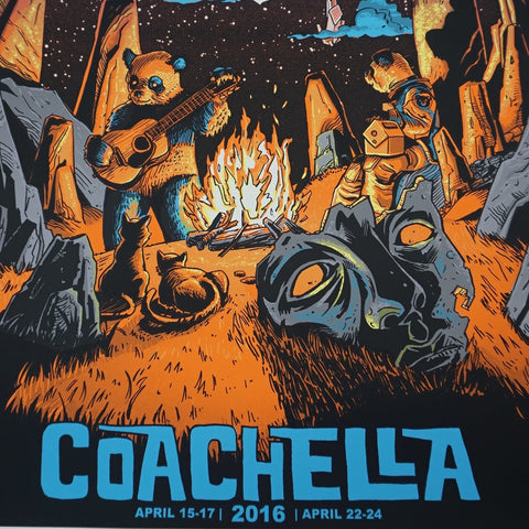 Coachella - 2016 Tim Doyle poster AP signed Empire Polo Indio, CA