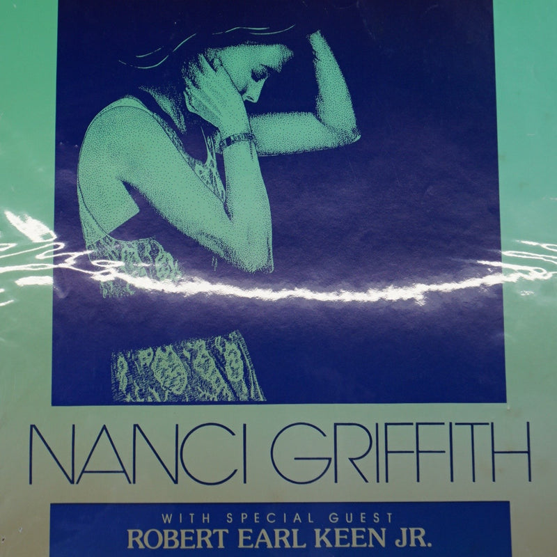 Nanci Griffith - 1990 Jagmo Nels Jacobson poster Austin, TX Bass Hall