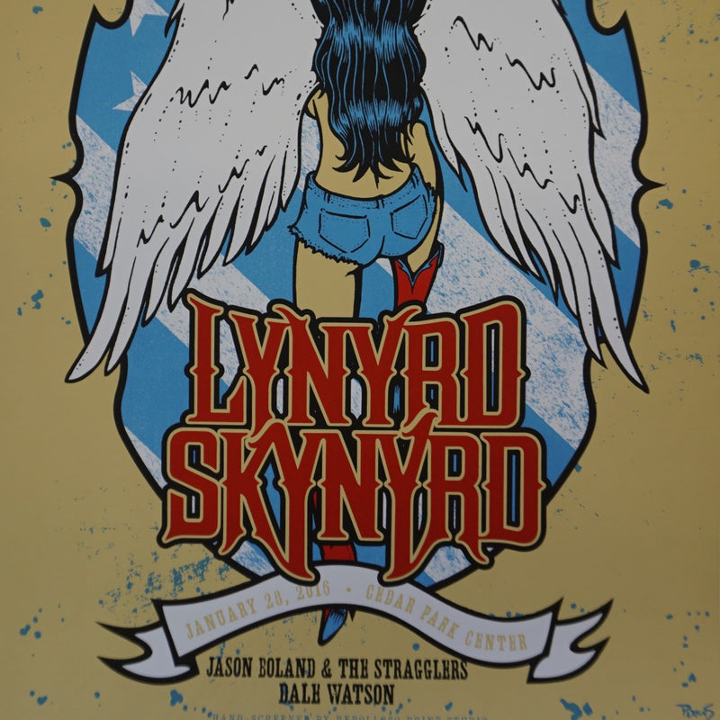 Lynyrd Skynyrd - 2016 Billy Perkins poster Austin, TX Cedar Park Center