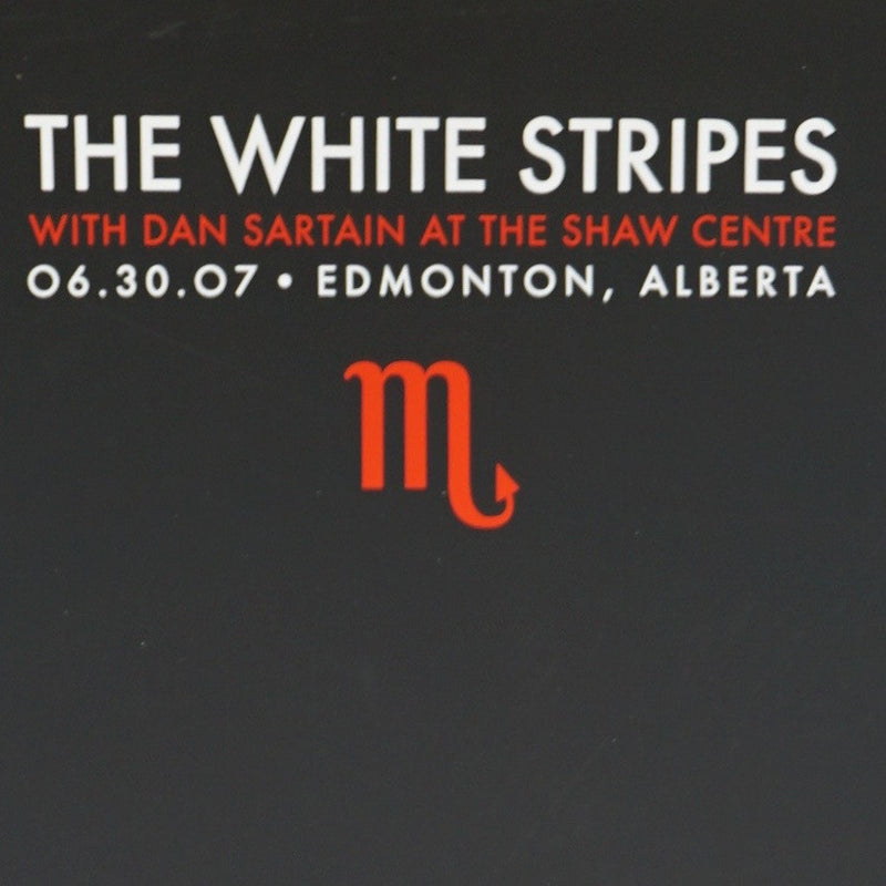 The White Stripes - 2007 Rob Jones Poster Edmonton, Alberta