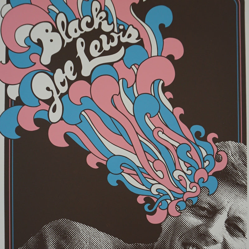 Black Joe Lewis - 2014 Billy Perkins poster Kansas City, MO