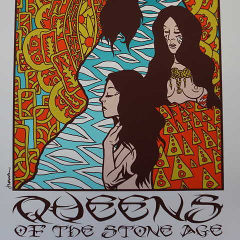 Queens of the Stone Age - 2011 Jermaine Rogers poster Chicago