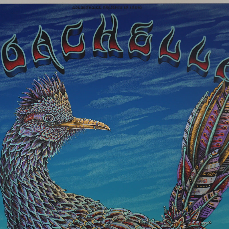 Coachella - 2015 EMEK poster AP edition of 100 HAND signed PEARL PAPER