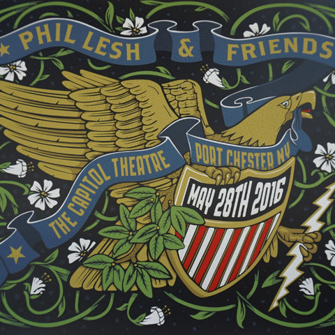 Phil Lesh & Friends - 2016 Melvin Seals poster Grateful Dead