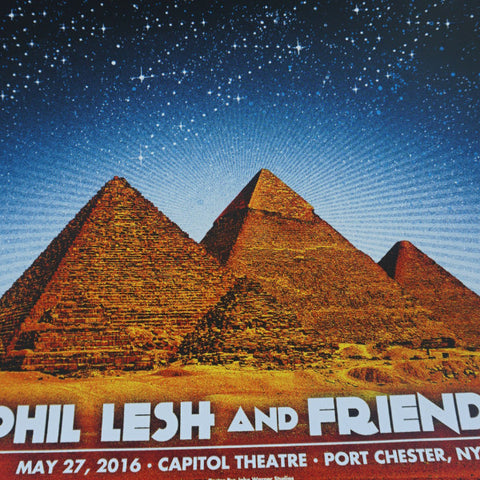 Phil Lesh & Friends - 2016 John Warner poster Grateful Dead