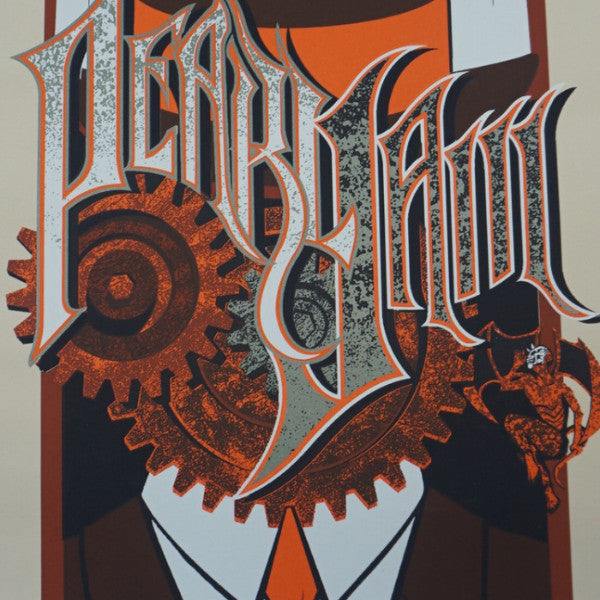 Pearl Jam - 2007 Brad Klausen poster Chicago The Vic Theatre