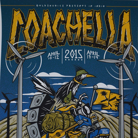 Coachella - 2015 Victor Koast AP poster signed Indio CA Empire Polo