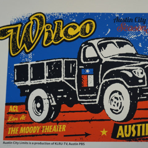 Wilco - 2011 Pete Cardoso poster ACL Austin City limits S/N