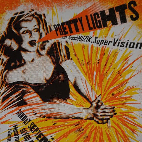 Pretty Lights - 2012 Carlos Hernandez poster Houston, TX Bayou