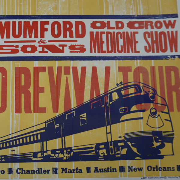Railroad Revival Tour - 2011 Hatch Show Print Company poster