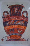 Phish - 2010 Jim Pollock poster Berkely, CA The Greek Theatre