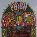Phish - 2010 Jim Pollock poster Chicago Amherst, MA Mullins Center