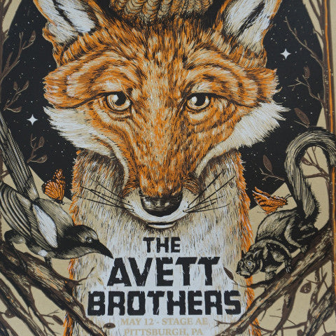 The Avett Brothers - 2016 Zeb Love poster Pittsburgh, PA Stage AE S/N