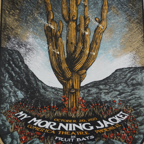 My Morning Jacket - 2015 Zeb Love poster Phoenix, AZ Jim James
