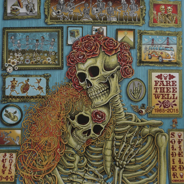 Grateful Dead Chicago 2015 Emek Poster Fare Thee Well 87