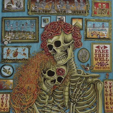 Grateful Dead Chicago - 2015 EMEK poster Fare Thee Well 87/150 GD50