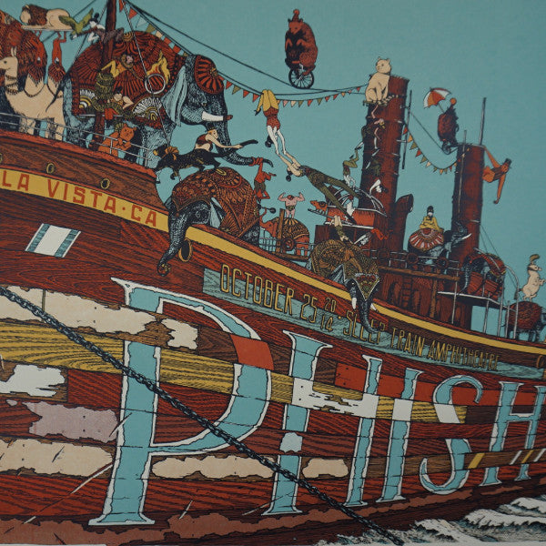 Phish - 2014 Landland poster Chula Vista, CA Sleep Train Amph