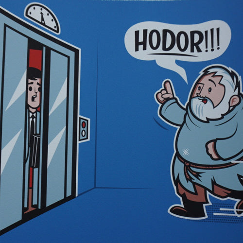Hold The Door - 2016 Dave Perillo poster Hodor Game of Thrones