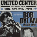 Bob Dylan - 1998 Geoff Gans poster United Center Chicago, IL