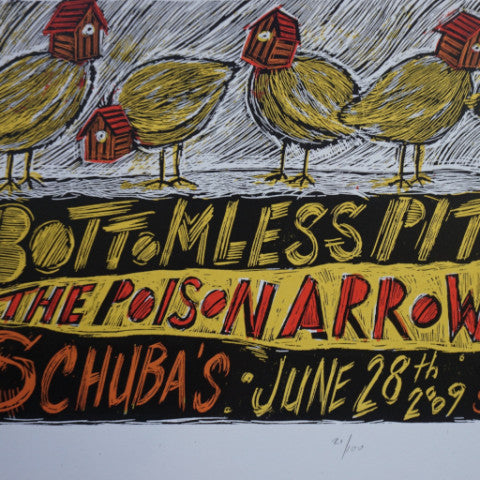 Bottomless Pit - 2009 Dan Grzeca poster Poison Arrows Chicago