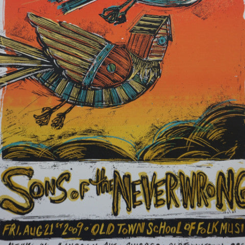 Sons of the Never Wrong - 2009 Dan Grzeca poster Old Town School