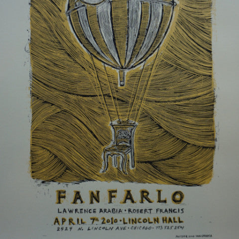 Fanfarlo - 2010 Dan Grzeca poster Chicago, IL Lincoln Hall
