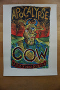 Apocalypse Cow - 2009 Dan Grzeca poster Chicago, IL Three Floyds