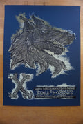X - 2009 Dan Grzeca poster Chicago, IL Double Door Punk BLUE