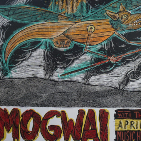 Mogwai - 2009 Dan Grzeca poster Brooklyn, NY Music Hall Williamsburg