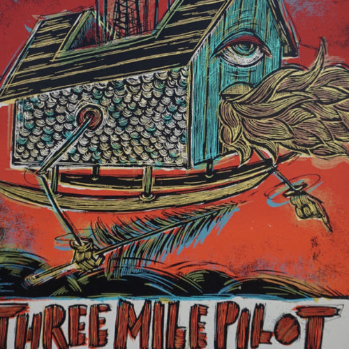 Three Mile Pilot - 2009 Dan Grzeca poster tour California