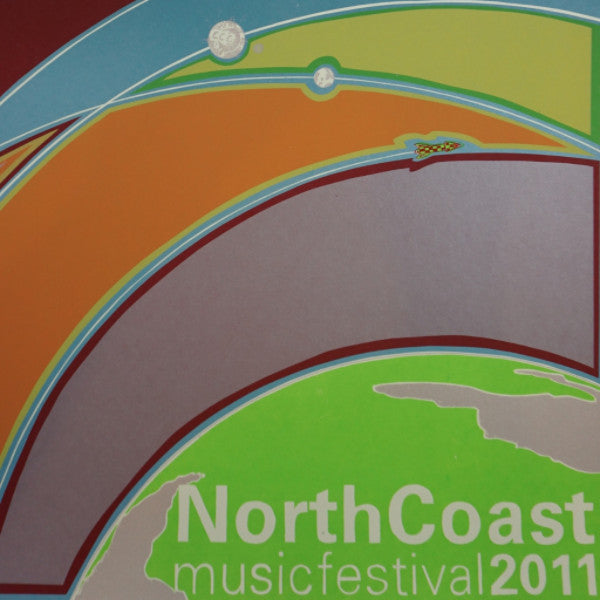North Coast - 2011 Fugscreens Studios poster NCMF Chicago, IL