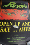 Poison - 1988 Open Up and Say Ahh! poster HUGE XL Large Vintage